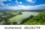 furnas lagoon in the azores.... | Shutterstock . vector #681281749