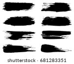 collection of artistic grungy... | Shutterstock . vector #681283351
