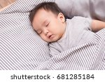 young little asian baby  male... | Shutterstock . vector #681285184