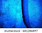 blue paint metal plate texture...   Shutterstock . vector #681286897