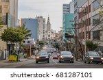 Sinimbu Street and Sao Pelegrino Church - Caxias do Sul, Rio Grande do Sul, Brazil