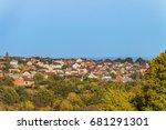 suburban skyline. buildings...   Shutterstock . vector #681291301