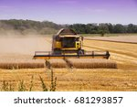 combine harvester machine... | Shutterstock . vector #681293857