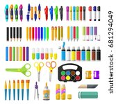 a set of stationery for... | Shutterstock .eps vector #681294049