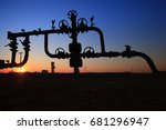tube and valve  oil industry... | Shutterstock . vector #681296947