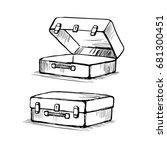 hand drawn retro style travel... | Shutterstock .eps vector #681300451
