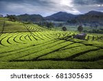 pangalengan is a district in...   Shutterstock . vector #681305635