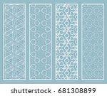 decorative geometric line... | Shutterstock .eps vector #681308899