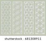 decorative geometric line... | Shutterstock .eps vector #681308911