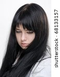 Anime Girl On White Background