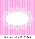 white circle lace pink card | Shutterstock .eps vector #68133748