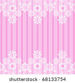 white flowery lace cropped pink ... | Shutterstock .eps vector #68133754
