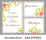 invitation with floral... | Shutterstock .eps vector #681349681