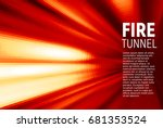 abstract red motion blur... | Shutterstock .eps vector #681353524
