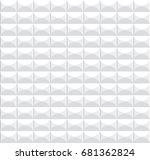 white geometric texture. vector ... | Shutterstock .eps vector #681362824