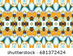 colorful horizontal pattern for ... | Shutterstock . vector #681372424