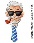 vector illustration of old man...   Shutterstock .eps vector #681375445