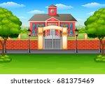 vector illustration of school... | Shutterstock .eps vector #681375469