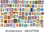 colorful alphabet made of... | Shutterstock . vector #68137558