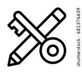 key editor icon | Shutterstock .eps vector #681376639