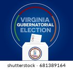 virginia gubernatorial election ... | Shutterstock .eps vector #681389164