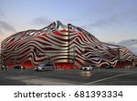 Small photo of Los Angeles, CA / USA - June 17, 2016: view of the Petersen Auto Museum's 2015 redesign in LA's Fairfax District