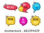 sale labels  tags  speech...   Shutterstock .eps vector #681394429