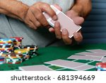 casinos have chips  dice  chips ... | Shutterstock . vector #681394669