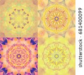 set of abstract decorative... | Shutterstock . vector #681400099