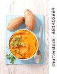 sweet potato mashed | Shutterstock . vector #681402664