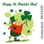 happy st patrick's day greeting ... | Shutterstock . vector #68141239