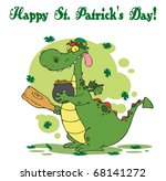 happy st patrick's day greeting ... | Shutterstock . vector #68141272