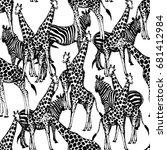seamless vector pattern of hand ...   Shutterstock .eps vector #681412984