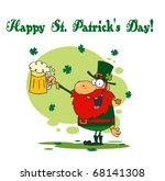 happy st patrick's day greeting ... | Shutterstock . vector #68141308