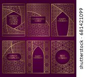 set of greeting cards templates.... | Shutterstock .eps vector #681421099