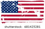 united states of america flag... | Shutterstock . vector #681425281