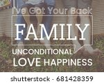 family parentage home love... | Shutterstock . vector #681428359