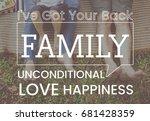 family parentage home love... | Shutterstock . vector #681428359
