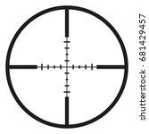 vector black optical sight aim... | Shutterstock .eps vector #681429457