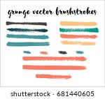 set of bright colored vector... | Shutterstock .eps vector #681440605