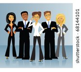 a group of business people. | Shutterstock .eps vector #68144101
