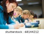 pretty female college student...   Shutterstock . vector #68144212
