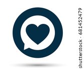 romance chat icon | Shutterstock .eps vector #681452479