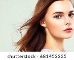 beautiful healthy skin woman... | Shutterstock . vector #681453325