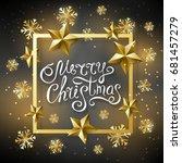 christmas luxury black... | Shutterstock .eps vector #681457279