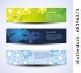 vector set of three banner... | Shutterstock .eps vector #68146375