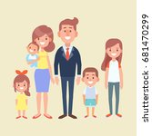 happy family together   parents ... | Shutterstock .eps vector #681470299