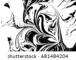 black and white liquid texture. ... | Shutterstock .eps vector #681484204