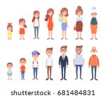 set of characters in a flat... | Shutterstock .eps vector #681484831