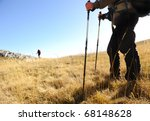 sport hiking in mountains ... | Shutterstock . vector #68148628